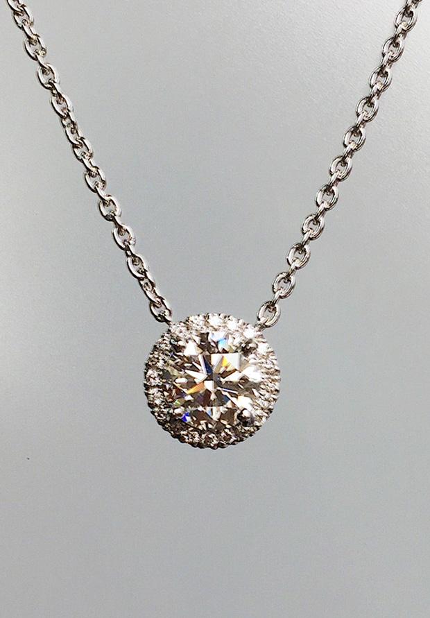 デザイン→1ctダイヤモンドネックレス